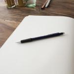 Besprechungsraum Skizze Buch Stift