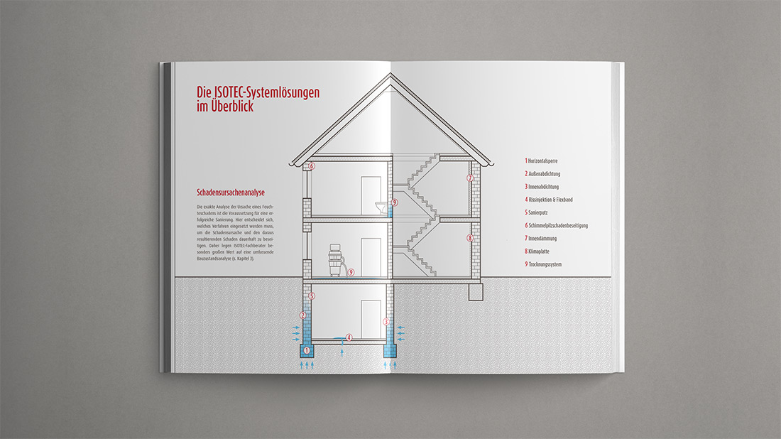 Isotec Architectus Ratgeber Schimmelschaden Editorial Illustration