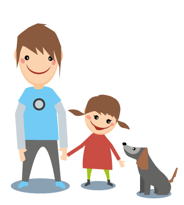 Illustration Familie Kinder