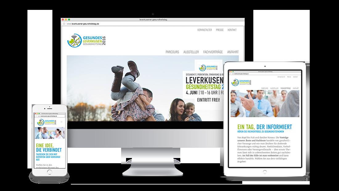 Gesundheitstag Website Endgeräte MockUp