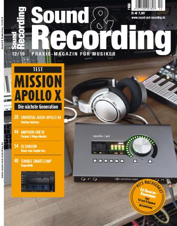 Sound and Recording Magazin Ausgabe Dezember 2019