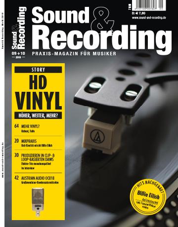 Sound and Recording Magazin Ausgabe September Oktober 2019