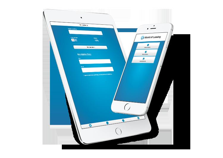 World of Leasing App MockUp