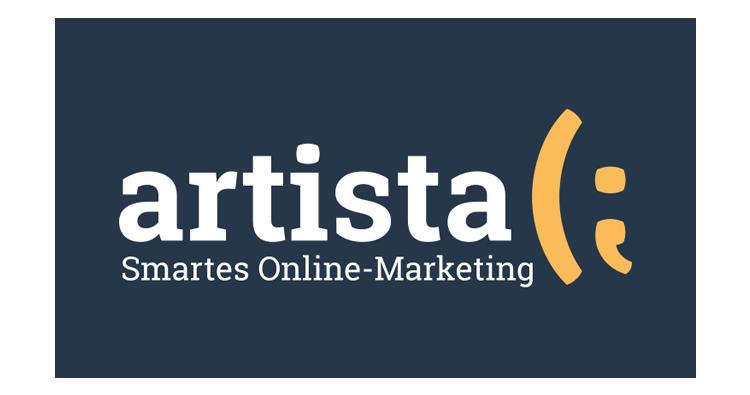 Artista Logo auf Blau
