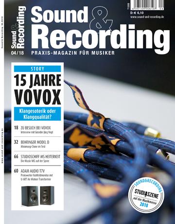 Sound and Recording Magazin Ausgabe April 2018