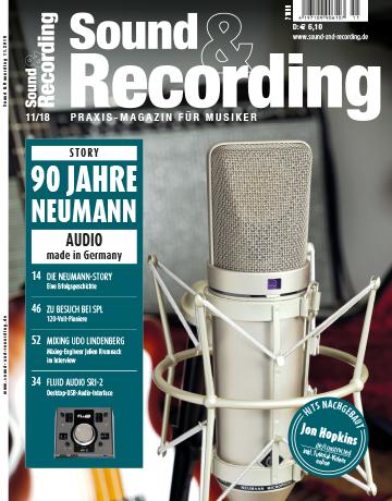 Sound and Recording Magazin Ausgabe Oktober 2018